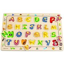 Hape E1501 - Puzzle de encajar, diseño de letras