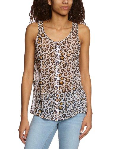 VILA CLOTHES - Blouse - Sans Manche Femme Multicolore - Mehrfarbig (OFF WHITE)