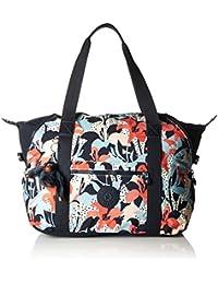 Киплинг - дорожная сумка - ART M - Розенблюм Blue (печать)
