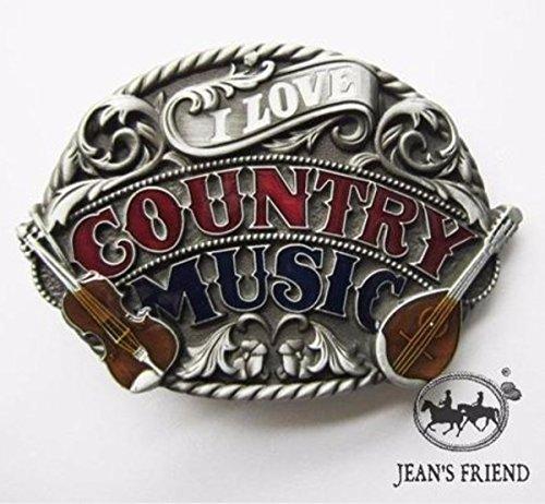 Musik Country Kostüm Western - napolo Western Buckle Belt Cowboy gurtelschnallen New Country-Musik stolz rot weiß blau