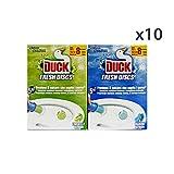 Set 10Duck Fresh Täfelchen WC Discs Base marine-lime Reinigungsmittel Haus