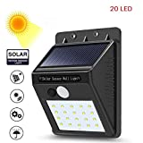 #8: Piqancy LED Waterproof Out Door Solar Light with Motion Sensor, Auto Saving Mode, 20 LED Wall Light for Street Garden etc. Night Light