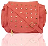 Typify Leather PU Women & Girls Casual College Office Stylish Latest Sling Bags (Peach)
