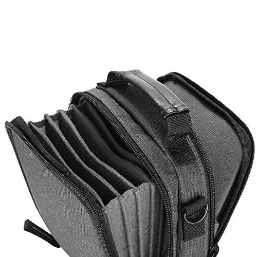 Neewer Kamera Objektiv Filter Tasche mit Schultergurt, aus massivem Canvas für 6 Stück 100x100mm oder 100x150mm quadratische oder rechteckige Filter
