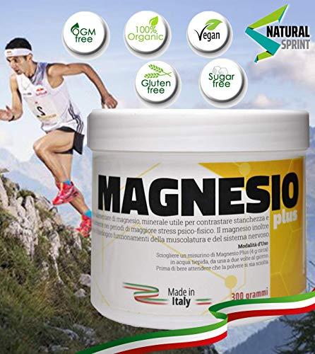 NATURALSPRINT | Integratore Magnesio Cloruro | Acido Citrico | 300 Gram | Solubile | Senza Aggiunta Di Zuccheri | Citrato | Vegano