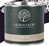 Lignocolor Wandfarbe Innenfarbe Deckenfarbe Kreidefarbe edelmatt 2,5 L (Aubergine)