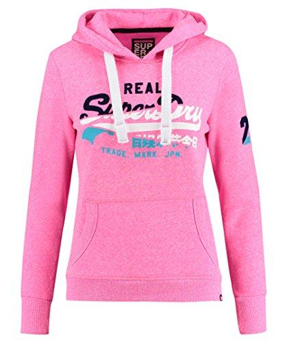 "Superdry Damen Sweatshirt \""Vintage Logo Splice Entry\"" pink (71) S"