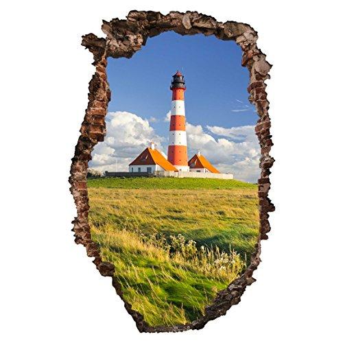 Preisvergleich Produktbild Bilderwelten 3D Wandtattoo - Leuchtturm in Schleswig-Holstein - Hoch 3: 2,  Größe HxB: 60cm x 40cm