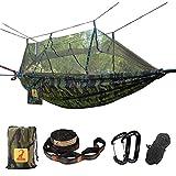 Hängematte mit Moskitonetz Camping 2 Personen Leicht Tragbar Fallschirm Hängematte Camping