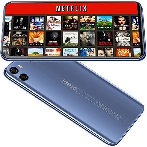 Smartphone Debloqué 64GB 4 Go Quad Core Telephone Portable debloqué 4G 5,85'' HD,Double Nano-SIM, Face ID Smartphone Pas Cher Android 8.1, Dual Caméras Batterie 4200mAh