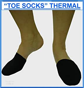 "Thermal Neoprene Toe Warmers , Keeps Toes Toastie, Supplied in PAIRS, Colour Black, (P&P £0.99p Worldwide) All colours from stock see our SHOP ""Prolineonline"""