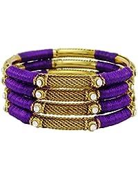7a6cf8ef24b5 Banithani dorado hilo de regalo de la joyería de la pulsera del brazalete  del Conjunto indio de la manera para las mujeres 2…