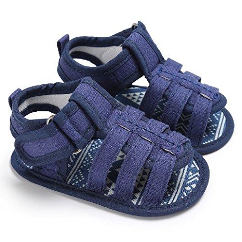 Für 3-18 Monate, Auxma Baby Jungen Sandalen Kleinkind schrubben erste Wanderer Kinder Schuhe (6-12 M, Blau) Blau