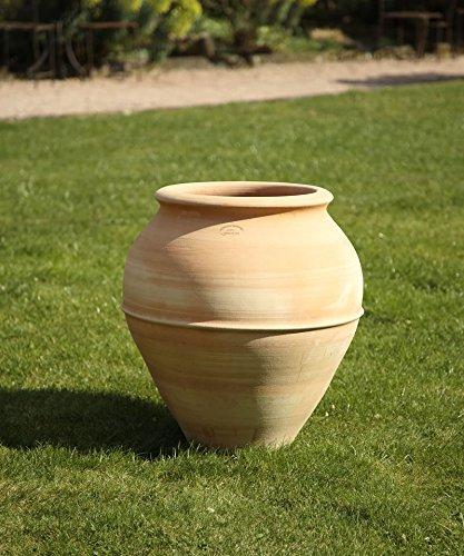 Haute Qualité Amphore terracotta, fait main au gel, décoration pour le jardin extérieur 50–60 cm, punica 60 cm