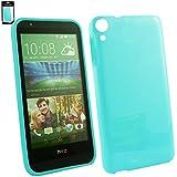 Emartbuy® HTC Desire 820 Glänzend Gel Hülle Schutzhülle Case Cover Blau