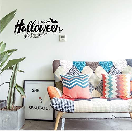 Guyuell Diy Pvc Wandaufkleber Happy Halloween Dekoration Wandtattoos Vintage Post Abnehmbare Aufkleber Möbel Aufkleber Dekorationen (Happy Post Halloween)