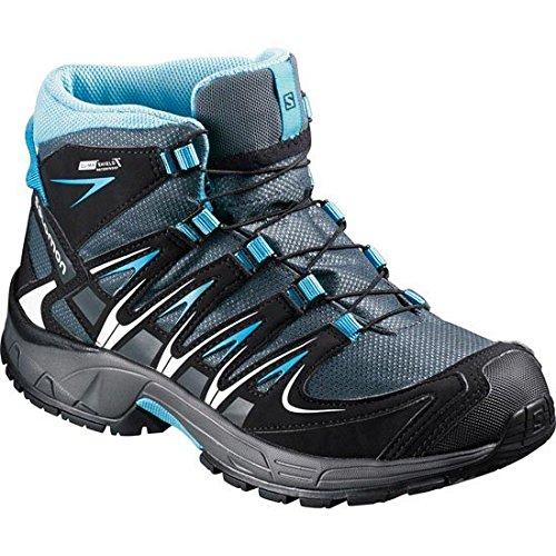 Mountain Warehouse Zapatillas Stampede para niños - Zapatillas de correr con suela de gran agarre, zapatillas impermeables, zapatillas de verano con empeine Lima 32