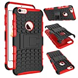 iPhone 6S Plus Case Silikon,iPhone 6S Plus Hülle Bumper,iPhone 6S Plus Hülle Flip Case,iPhone 6S Plus Hülle Schwarz Tasche Wallet Case Flip Cover Etui für iPhone 6 Plus 5.5 Zoll,EMAXELERS iPhone 6S Plus Hülle Hardcase,iPhone 6S Plus Hülle With Kickstand / Stand,iPhone 6S Plus Hülle Silikon Schwarz Reifen Muster Rugged Armor stoßfest Handy Schutzhülle Tasche Ständer Hülle Case Cover Etui mit Standfunktion für iPhone 6S Plus 6 Plus 5.5 Zoll,Red Tire Pattern