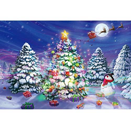 YongFoto 3x2m Navidad Fondo Dibujos Animados Monigote