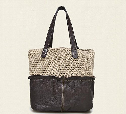 DJB/Woven Leder Bicolor Fashion Single Schulter Hand Tasche 1