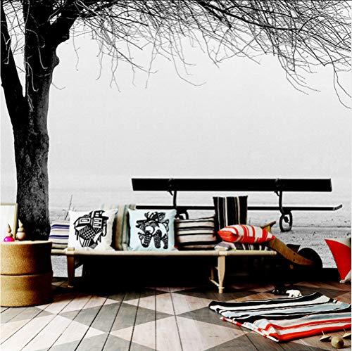 Wandbild Benutzerdefinierte 3D Fototapete Wandbild Schwarz Weiß Big Tree Bank Abstrakte Kunst Wandmalerei Moderne Wohnzimmer Sofa Tv Hintergrund Dekor