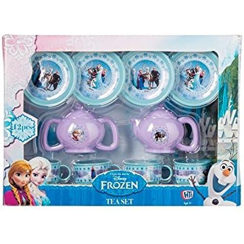 Frozen Pequeño juego de té de plástico! Grande para el aprendizaje de los niños y los partidos! Doce pieza ajuste 4 tazas y platillos X + jarra de leche, la tetera y las