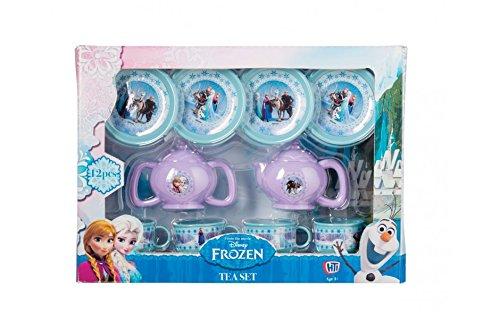 Disney Gefrorene kleine Plastik Tee-Set! Groß für das Lernen und die Partys der Kinder! Zwölf Stück Set-4 X Tassen und Untertassen + Milchkanne , Teekanne und Deckel.