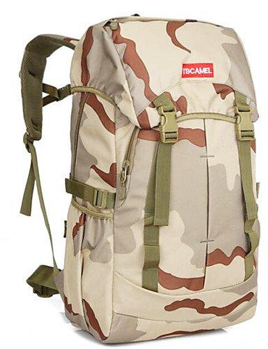 HWB/ 75 L Rucksack Camping & Wandern Draußen Multifunktions Schwarz / Tarnfarben Nylon Other Khaki