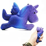 Viahwyt 2018 NEWEST Hot Sale Unicorn Slow Rising Squishy Toys Squeeze Anxiety Stress Reliever Toy Decompression Toys Phone Charm Home Decor Boys Girls Birthday Gifts For Women Adults Kids Toy (Galaxy Unicorn Horse)