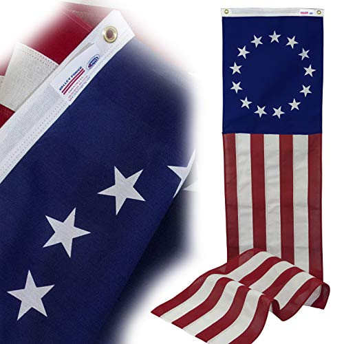 Valley Forge Flagge kolonial 13-star Poly Baumwolle 20 von 2,4 m Pull Down