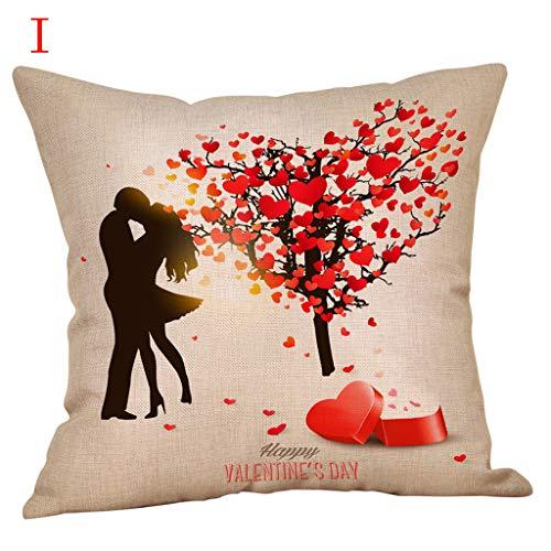 Yvelands home quadrato federa cuscino set custodia piazza gettare soft solid decorativa federe set cuscino per divano letto auto pillow,buon san valentino cuscino b