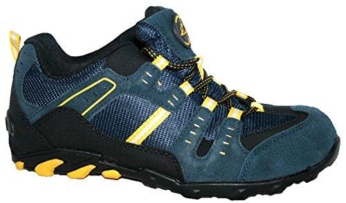 Groundwork GR02 N, Chaussures de sécurité homme Bleu marine/jaune