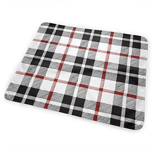 Voxpkrs Fall Plaid Redblackwhite Bed Pad Washable Urine Pads for Baby Toddler Children 31.5 X 25.5 inch - Pink Plaid Protector