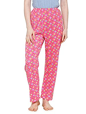 CAMEY Women's Printed Cotton Long Pajama (Multicolour, Free Size)