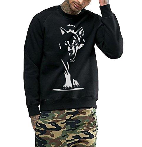 Young Trendz Men's Cotton Printed Bio-Wash Raglan Sleeve Sweat Shirt