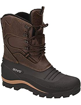 BOWS® -KARL- Herren Jungen Schuhe Winter Boots Schnee Stiefel Halbschaft wasserdicht wasserabweisend