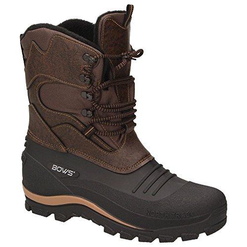 BOWS® -KARL- Herren Jungen Schuhe Winter Boots Schnee Stiefel Halbschaft wasserdicht wasserabweisend, Schuhgröße:47, Farbe:braun