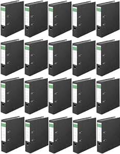 20 PIECES Classeur á levier Economy - carton intérieur format A4 - Largeur de dos 80 mm (Import Allemagne)