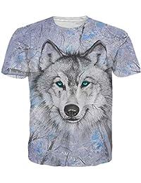 Idgreatim Unisex 3D Printed Short Sleeve T-Shirt Casual Graphic Tees Top …