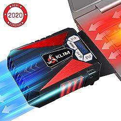 KLIM Cool Universaler Kühler für Spielekonsole Laptop PC - Hochleistungslüfter für Schnelle Kühlung - USB Warmluft-Abzug Rot[ Neue 2020 Version ]