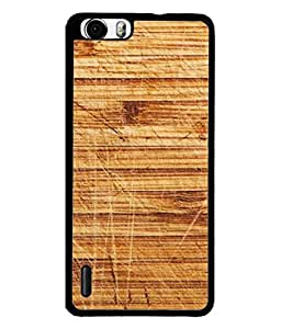 PrintVisa Designer Back Case Cover for Huawei Honor 6 Plus (Wood block sheet thick furniture)