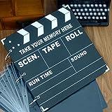 OSUNP Photo Album Scrapbook DIY Film Clapper Board Anniversary Scrapbook Christmas Gift Novelty Gift (29cm x 29cm) 60 Pages