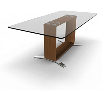 Schreibtisch mit Glasplatte ARCHE, Designer Glasschreibtisch, Design ...