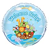 Unique-Party-49531-Paquet-de-16-Serviettes-en-Papier-Baby-Shower-Arche-de-No-13-cm