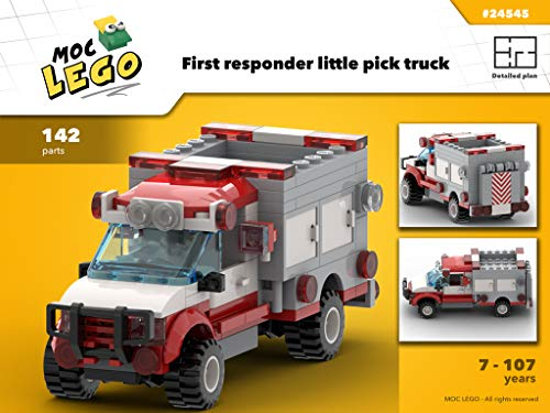 Fire little pick up truck (Instruction Only): MOC LEGO (English Edition)