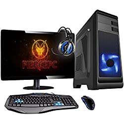 Fierce TERRA 8 Gaming PC Pacchetto - Veloce 3.7GHz Quad-Core AMD Ryzen 3 2200G, 1TB HDD, 8GB 2666MHz, AMD Radeon Vega 8 Grafica, Tastiera (UK/QWERTY), Mouse, 21.5-Pollici Monitor, Headset 220299