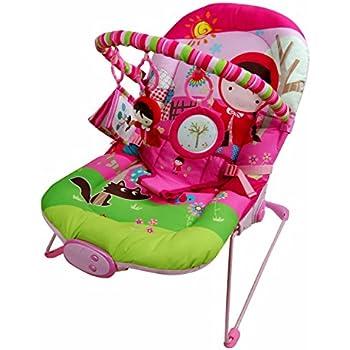 Musical Vibaration Reclining New Born Baby Pink Girl Bouncer Rocker Swing Chair