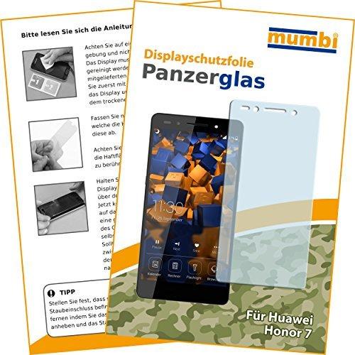 mumbi Hart Glas Folie kompatibel mit Huawei Honor 7 / 7 Premium Panzerfolie, Schutzfolie Schutzglas(1x)