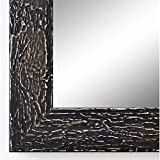 Online Galerie Bingold Spiegel Wandspiegel Badspiegel Flurspiegel Garderobenspiegel - Über 200 Größen - Parma Schwarz 3,9 - Außenmaß des Spiegels 80 x 100 - Wunschmaße auf Anfrage - Antik, Barock