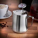 from VonShef VonShef Milk Jug Stainless Steel 600ml for Coffee, Latte & Frothing Milk Available in 330ml, 600ml & 945ml Model Others
